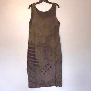 Peruvian collection large petite puma cotton dress
